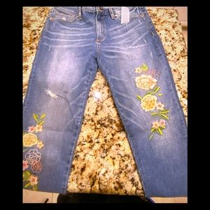 NWT🧡Miss Me embroidered light ankle skinnies 30